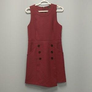 Calvin Klein Burgundy Dress w/ Pockets, size 8P